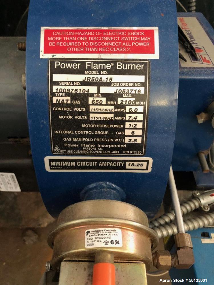 Used- Columbia Boiler, Model CT-50.