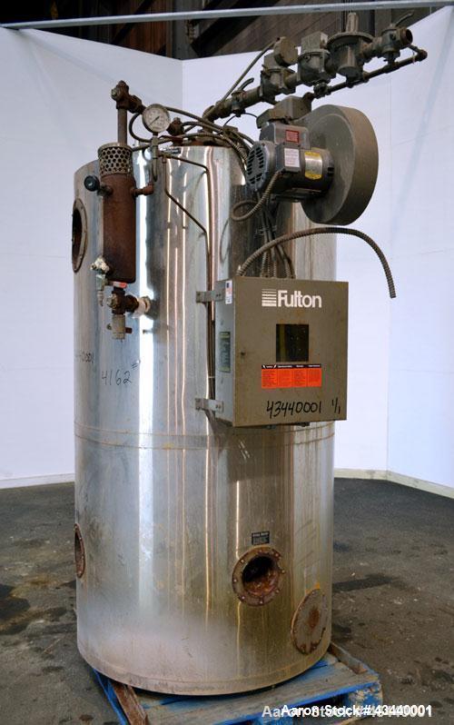 Used Fulton Gas Fired Steam Boiler Model Fb A 0