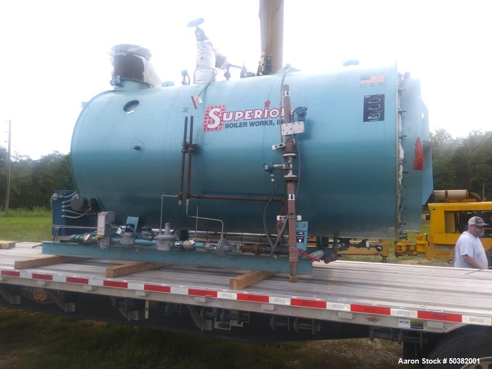 Used- 2014 Superior Packaged Steam Boiler.