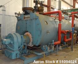 Used- Superior Boiler Works Boiler, Model 8-X-1500. Steam capacity 10350 pounds an hour, heating surface 1507 square feet, 1...