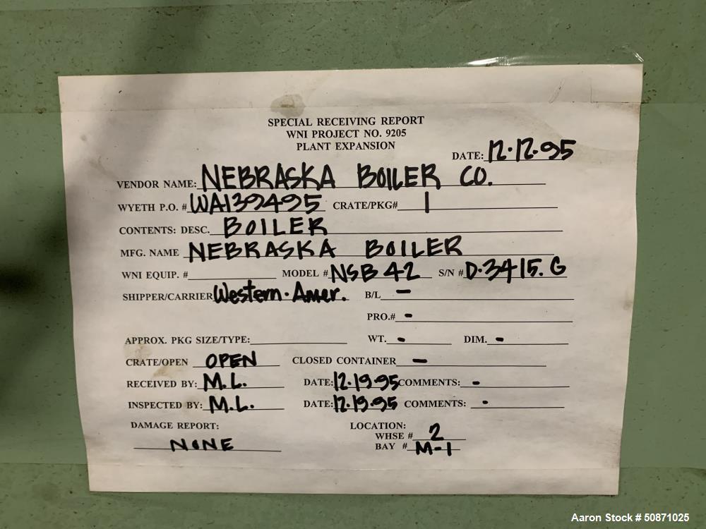 Unused- Nebraska Water Tube Boiler Packaged Steam Boiler With Economizer