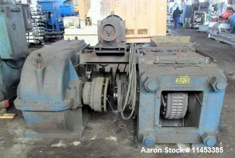 """Used- Komarek Greaves Briquetter, Model 150MS. Approximately 20.5"""" diameter x 9.2"""" faced rolls, 150 ton max roll separation ..."""