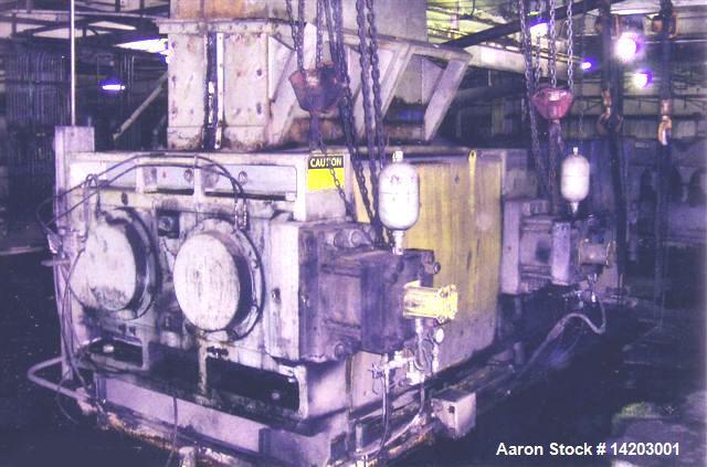 Used-K R Komarek Briquetter, Model DH-500-28 X27X2, 300 ton capacity, approximately 350 hp.