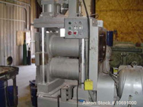 "Used-K R Komarek Model B220 Briquetter serial #371. With (2) 12"" diameter rolls, carbon steel, feeding rolls, 10 hp 230/460 ..."