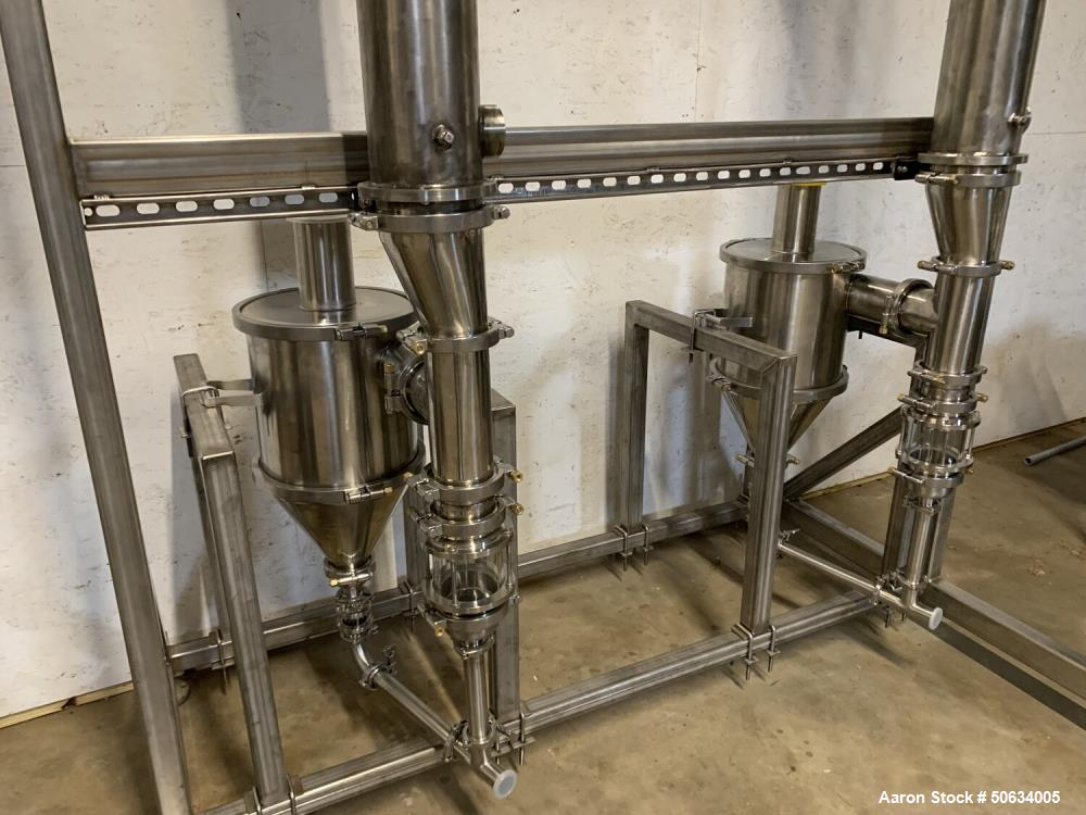 "Used- Custom Built ""Twin 99"" Falling Film Evaporator for CBD and Hemp Processing"