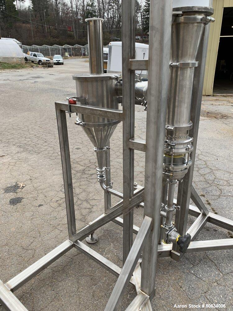 Used- Custom Built Biopharma Falling Film Evaporator for CBD and Hemp Processing
