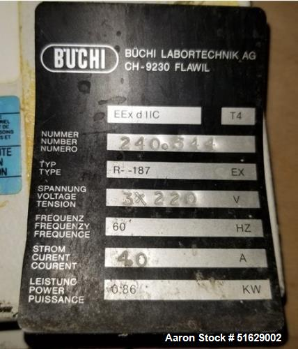 Used- Buchi Rotavapor Rotary Evaporator, Model R-187 EX