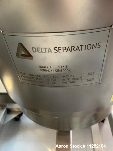Unused- Delta Separations Ethanol Extraction System,  Model CUP-15