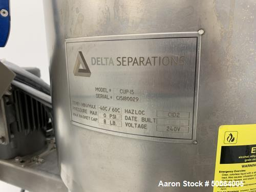 Used- Delta Separations Ethanol Extractor