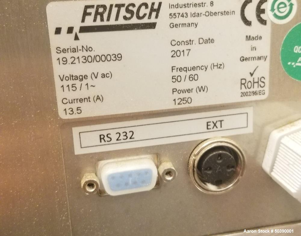 Used Fritsch International High Speed Cutting Mill