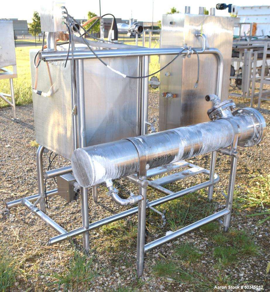 "Used- Enerquip U"" Tube Heat Exchanger, Approximately 43 Square Feet, Horizontal. 304L Stainless steel shell rated 150 psi at..."