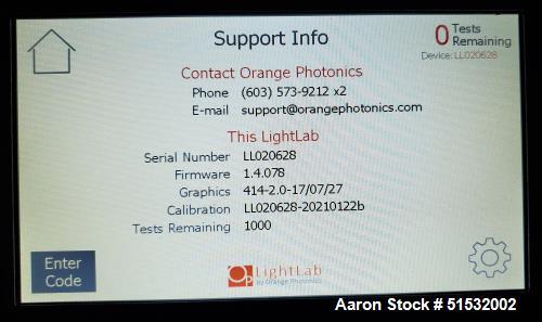 Used-Orange Photonics LightLab Portable Cannabis/Hemp Analyzer