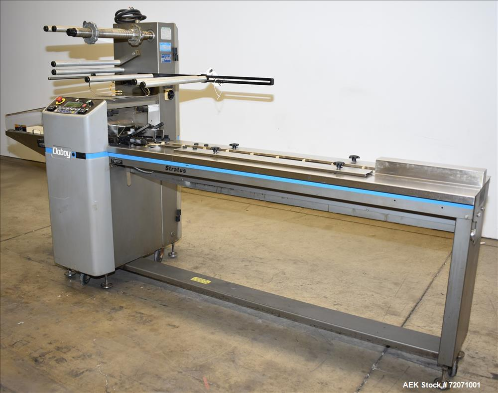 Used- Bosch / Doboy Stratus Horizontal Wrapper for Cannabis and Hemp Products