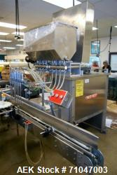 Used- PackWest Model 8BPF-RF-P-SW-RL inline piston filler For Cannabis Products
