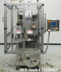 Used- PDC Model Automatic Shrink Sleeve Labeler and TE Neck Bander For Cannabis