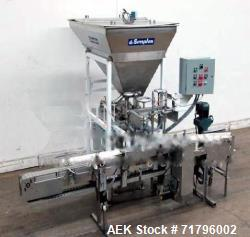 Used- Simplex Model AS200 Twin Piston Filler and Accumulation Tables For Cannabi