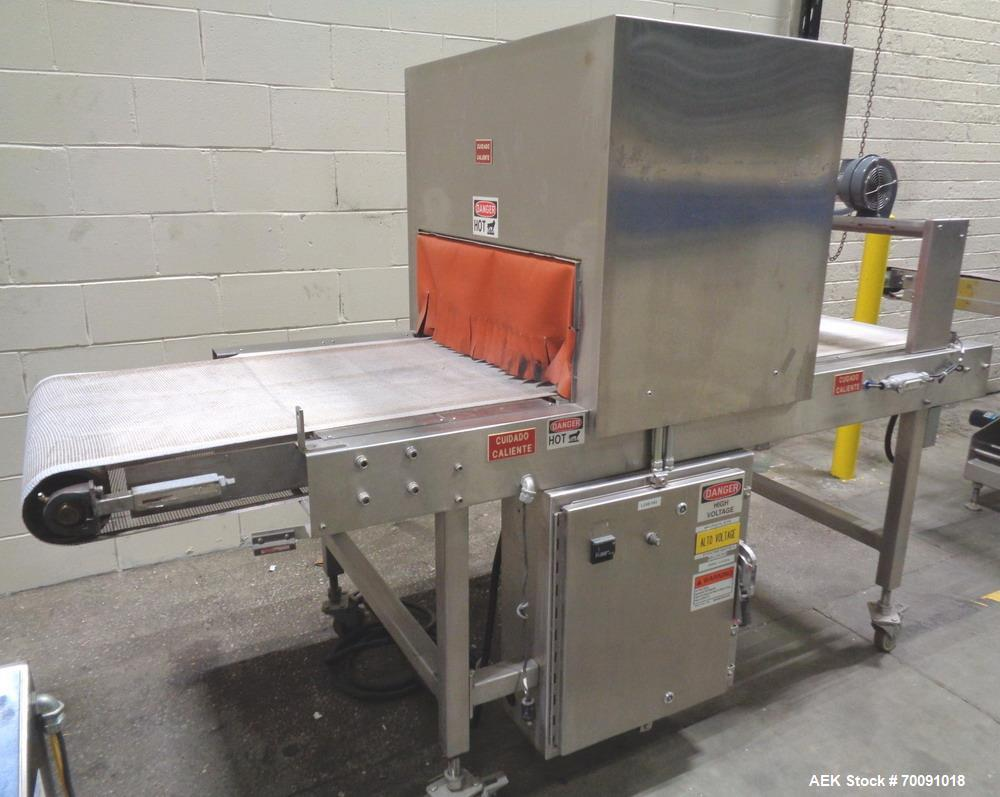 Used- Omega Model DL27 Automatic Dual Lane Shrink Bundler for Cannabis Products