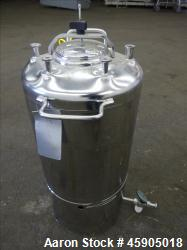 Used- Alloy Products Pressure Tank, 6 Gallon, 316L Stainless Steel