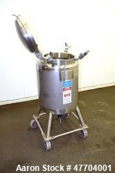 Used- DCI Pressure Tank, 50 Gallon, 316L Stainless Steel