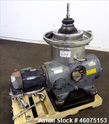 Used- Westfalia SB-14-06-076 Desludger Disc CBD Centrifuge.
