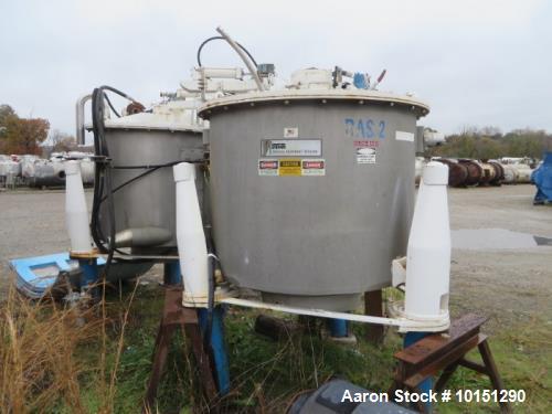 "Used- Ametek/ATM 48"" x 30"" Mark III Perforated Basket Centrifuge"