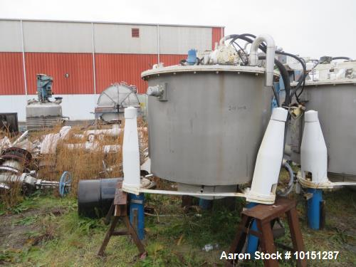 "Used- Ametek/Ketema Mark III 48"" x 30"" Deep 316 Stainless Steel Basket Bottom Du"