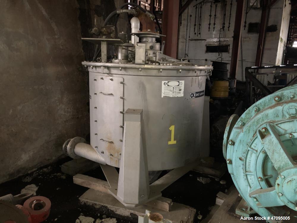 "Used- Delaval / ATM 48"" x 30"" Perforated Basket Centrifuge"