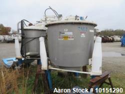 "Used- Ametek/ATM 48"" x 30"" Mark III Perforated Basket Centrifuge. 316 stainless steel construction (product contact areas), ..."