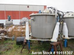 Used- Ametek/Ketema Mark III 316 Stainless Steel Basket Bottom Dump Centrifuge