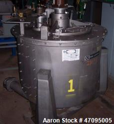 "Used- Delaval / ATM 48"" x 30"" Perforated Basket Centrifuge"