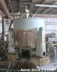 Used- Stainless Steel Sharples Sludge-Pak Solid Bowl Basket Centrifuge