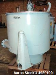 "Used-Sharples 48"" x 30"" Perforated Basket Centrifuge"