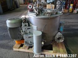"Used- Western States Perforated Basket Centrifuge. Model Q-120, 30"" x 18"""