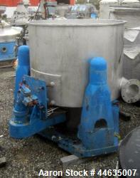 "Used- Western States 48"" X 30"" Perforated Basket Centrifuge"