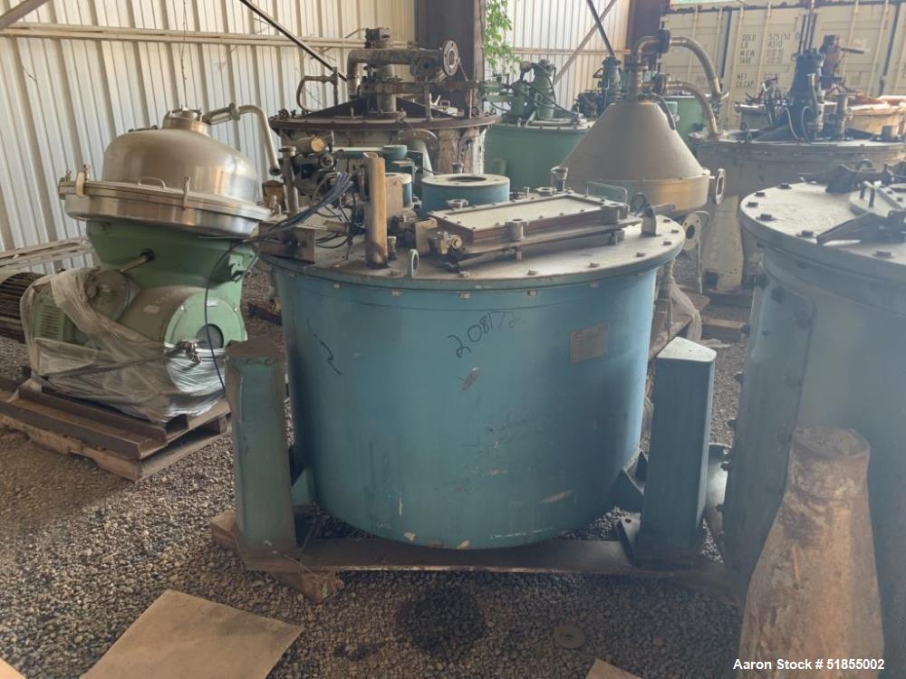 """Used-Sandborn 60"""" x 30"""" Perforated Basket Centrifuge"""