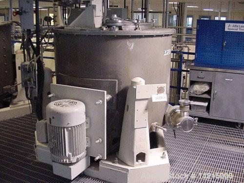 "Used-Sharples 48"" x 30"" Perforated Basket Centrifuge. 316 stainless steel construction on product contact areas. Top load, b..."