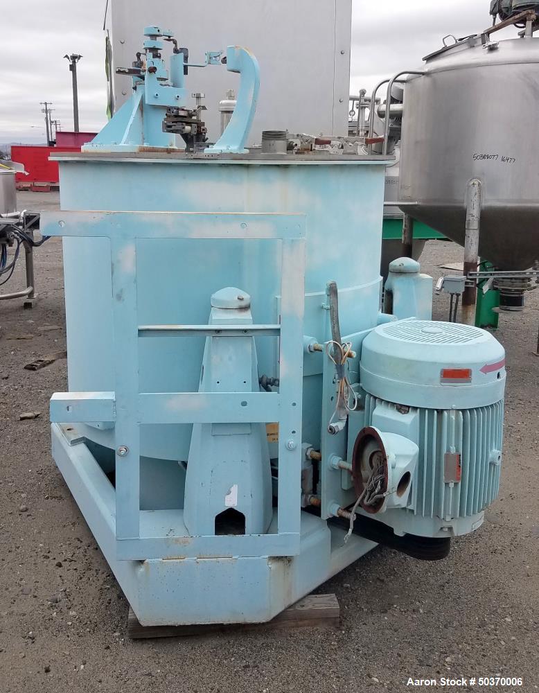 "Used-Sharples Basket Centrifuge, Stainless steel, 48"" diameter x 30"" straight side, Perforate Basket, Top load, Bottom Dump...."