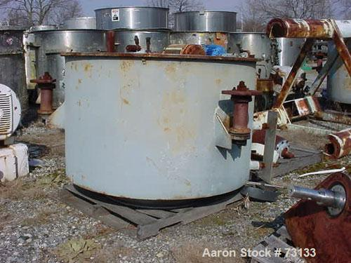 "Used- Tolhurst 48"" x 24"" Perforated Basket Centrifuge"