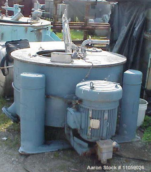 Used- Tolhurst Basket/Batch Center-Slung Centrifuge