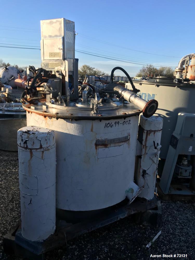"""Used- Tolhurst 40"""" x 24"""" Perforated Basket Centrifuge"""
