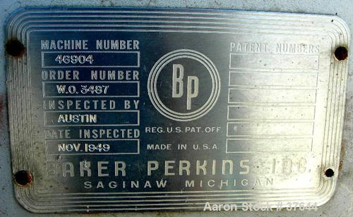 """USED: Baker Perkins peeler centrifuge, model HS-36. 304 stainless steel product contact areas. 36"""" diameter x 12-3/4"""" deep p..."""