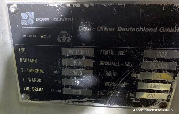 Used- Dorr-Oliver Peeler Centrifuge