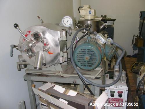 "Used- Krauss Maffei Model HZ-25 Horizontal Peeler Centrifuge. Stainless Steel construction, rotary Siphon style basket. 10"" ..."