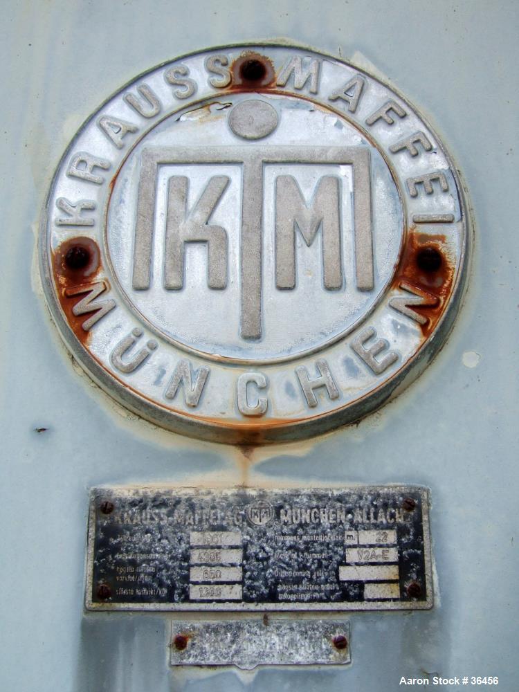 Used- Kraus Maffei Peeler Centrifuge, Model HZ2000, 304 Stainless Steel