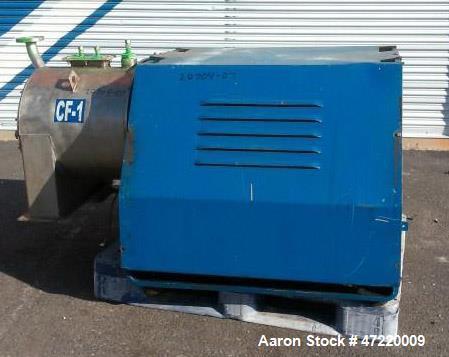 Used- Krauss Maffei Pusher Centrifuge, Model SZ-21, T316 Stainless Steel