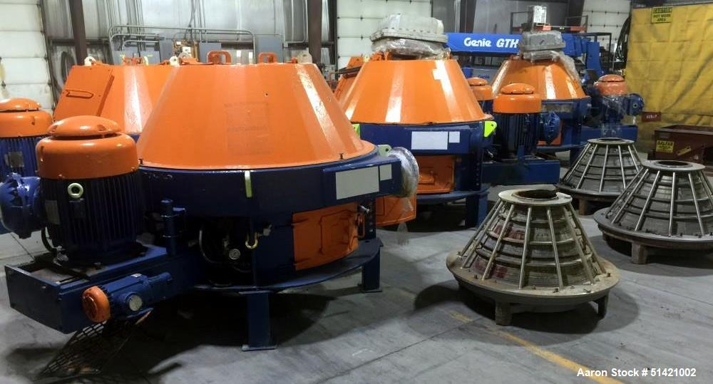 Used- Centrifugal Services, Model WSM-04 Continuous Screen / Dryer Centrifuge