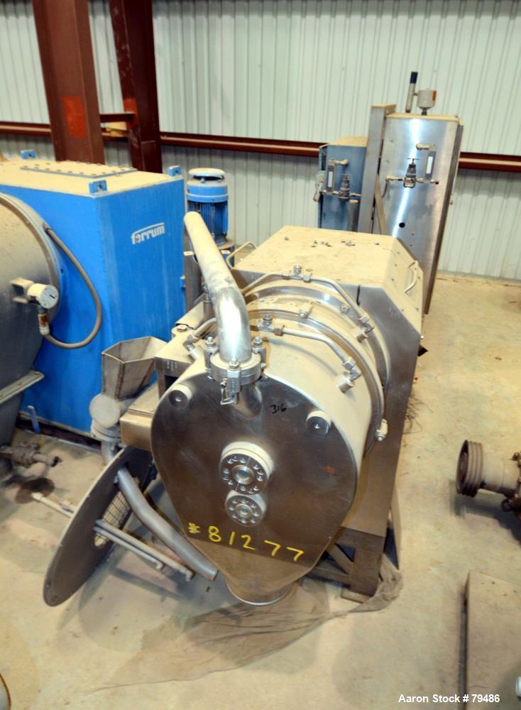 Used- Heinkel HF300 Inverting Filter Centrifuge, 316 Stainless Steel
