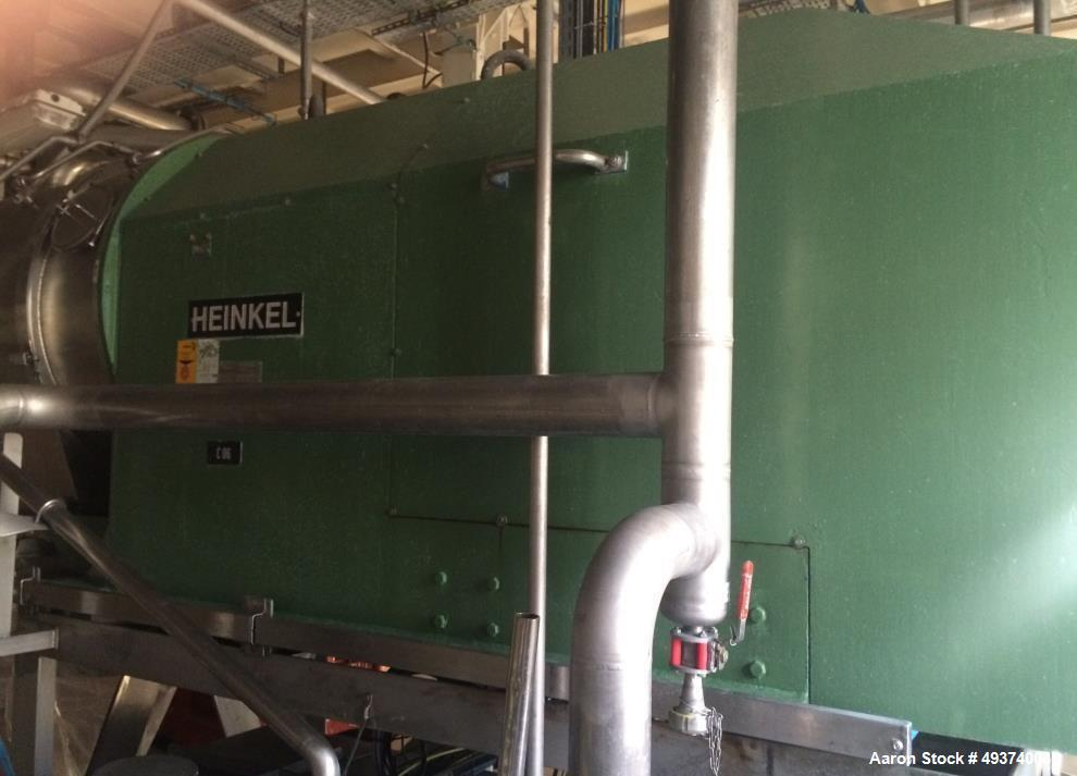 Used- Heinkel HF-600 Inverting Filter Centrifuge. 316 Stainless Steel