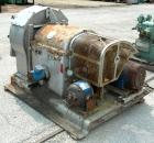 USED: Krauss-Maffei VH horizontal vibrating centrifuge, 316 stainless steel product contact areas. Conical basket 24