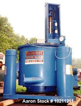 Used- Ametek Tolhurst Center Slung Centrifuge. Size 32 x 20, Batchmaster. 0-1325 rpm basket. 110 lb./cf density rating. Falk...